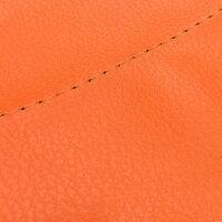 アルバ 2輪 グロンドマン 国産シートカバー オレンジ/透明ステッチ 張替 GH5571C140S0