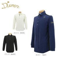 ドレモア メンズ 背面ボーダー切り替え 長袖 ポロシャツ 16AW-DMS7 ゴルフウェア