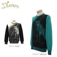 ドレモア メンズ プリント クルーネック 長袖 セーター 16AW-DMK4 ゴルフウェア  201