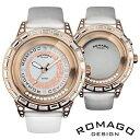 ROMAGO DESIGN ロマゴ デザイン 腕時計 RM017-0176ST-WH ユニセックス Romance series ロマンスシリーズ