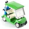 C3570-GR ミニチュアクロック Miniature Clock Collection ゴルフカート グリーン