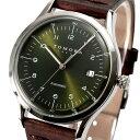 トモラ オートマチックバックスケルトン腕時計 グリーン/T-1608-SSGR