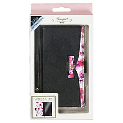 ナチュラルデザイン NATURAL design iPhone 11 Pro 5.8インチ専用手帳型ケース Bouquet Black iP19_58-BQ01