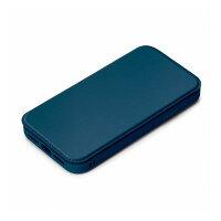 PGA Premium Style iPhone 13用 ガラスフリップケース ネイビー PG-21KGF03NV