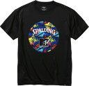 SPALDING Tシャツ MTV ギター ブラック L SMT200080