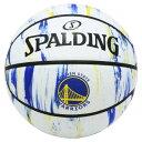 ウォリアーズ マーブル ホワイト ラバー バスケットボール 5号球 #84-305J