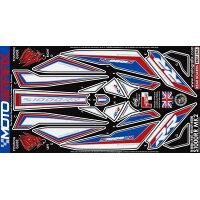 MOTOGRAFIX モトグラフィックス ステッカー・デカール ボディーパッド カラー:ホワイト ブルー レッド S1000RR