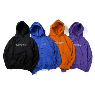 ラファイエット パーカー LAFAYETTE Rhinestone Logo US Cotton Hooded Sweatshirt LA190501
