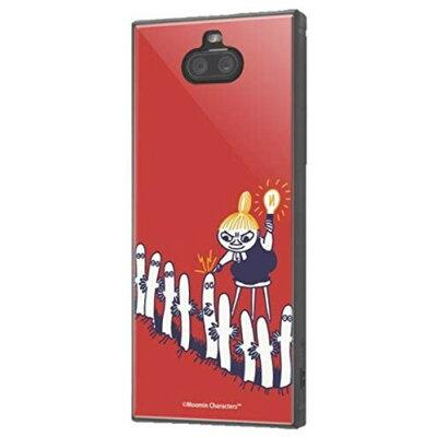 ムーミン Xperia 8 耐衝撃ハイブリッドケース KAKU ミイとニョロニョロ IQ-AXP8K3TB-MT013