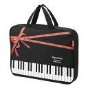 リボンファスナーレッスントート Piano line 01627101 レッスンバッグ