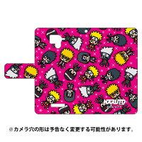 (スマホケース)ナルト疾風伝シリーズ NARUTO×PansonWorks 手帳型スマートフォンケース オールスターズ (ピンク)/ for AQUOS Xx 304SH/SoftBank