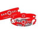 BANDEL reversible bracelet リバーシブルブレスレット redxcamouflage レッド×カモフラージュ Lサイズ 19.0cm