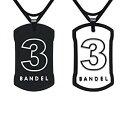 BANDEL バンデル ナンバーネックレス リバーシブル No.3 BlackxWhite 50cm