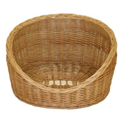 ウィロー(柳) おしゃれなペットバスケット:オープンベッド型