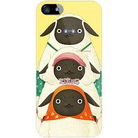 スマートフォンケース  やんやんマチコシリーズ マチコ一家 イエロー クリア iPhone SE/5/au