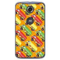 スマートフォンケース  ヒッピーカー オレンジ   クリア       Nexus 6/Y  mobile