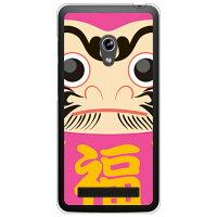 (スマホケース)ダルマ ピンク (クリア)/ for ZenFone 5 A500KL/楽天モバイル (Coverfull)
