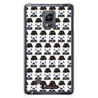 (スマホケース)Doggy Runnin Pattern (クリア)design by Moisture / for GALAXY Note Edge SCL24/au (SECOND SKIN)