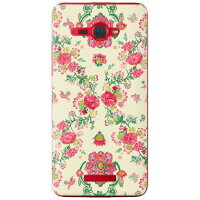 (スマホケース)SINDEE 「Nation Flower」 (クリア)/ for HTC J butterfly HTL21/au (SECOND SKIN)