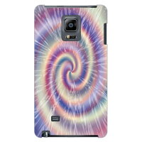 (スマホケース)Tie dye パープル design by ROTM / for GALAXY Note Edge SC-01G/docomo (SECOND SKIN)