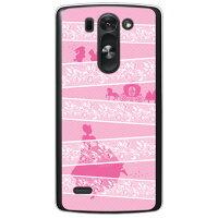 (スマホケース)レースプリンセス ピンク (クリア)/ for LG G3 BEAT LG-D722J/UQ mobile (Coverfull)
