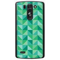 スマートフォンケース  ランダムブロック グリーン   クリア       LG G3 BEAT LG-D722J/UQ mobile