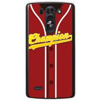 (スマホケース)Cf LTD ベースボールユニフォーム バーガンディ×ホワイト (クリア)/ for LG G3 BEAT LG-D722J/UQ mobile (Coverfull)