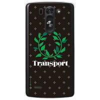 (スマホケース)Transport Laurel クロスドット ブラック (クリア)/ for LG G3 BEAT LG-D722J/UQ mobile (SECOND SKIN)