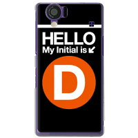 AQUOS PHONE 102SH/SoftBank専用 Cf LTD サブウェイイニシャル D オレンジ クリア SSH102-PCCL-152-MCA1