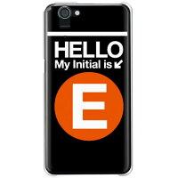 AQUOS PHONE SERIE SHL23/au専用 Cf LTD サブウェイイニシャル E オレンジ クリア ASHL23-PCCL-152-MCA2