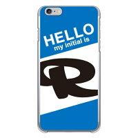 (スマホケース)Cf LTD ハローイニシャル R ブルー (クリア)/ for iPhone 6 Plus/Apple (Coverfull)