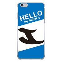 スマートフォンケース  Cf LTD ハローイニシャル I ブルー クリア  iPhone 6 Plus/Apple