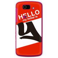 AQUOS PHONE SL IS15SH/au専用 Cf LTD ハローイニシャル Y レッド クリア ASHA15-PCCL-152-MC69