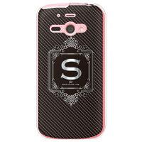 AQUOS PHONE ss 205SH/SoftBank専用 Cf LTD ラグジュアリーイニシャル S シルバーグレー クリア SSH205-PCCL-152-MC37