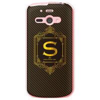 AQUOS PHONE ss 205SH/SoftBank専用 Cf LTD ラグジュアリーイニシャル S ゴールドイエロー クリア SSH205-PCCL-152-MC11