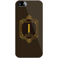 (スマホケース)Cf LTD ラグジュアリーイニシャル I ゴールドイエロー (クリア)/ for iPhone SE/5s/SoftBank (Coverfull)