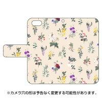 (スマホケース)手帳型スマートフォンケース SINDEE 「Botanical (ホワイト)」 / for iPhone SE/5s/SoftBank (SECOND SKIN)