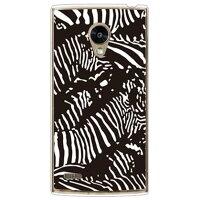 スマートフォンケース  Zebra camo ブラック クリア ROTM /    Fx0 LGL25/au
