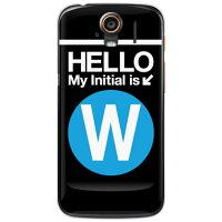 スマートフォンケース  Cf LTD サブウェイイニシャル W サックスブルー クリア  STREAM 201HW/WILLCOM