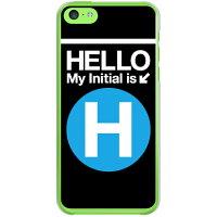スマートフォンケース  Cf LTD サブウェイイニシャル H サックスブルー   クリア       iPhone 5c/docomo