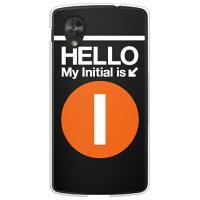 スマートフォンケース  Cf LTD サブウェイイニシャル I オレンジ   クリア       Google Nexus 5 EM01L/EMOBILE