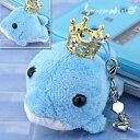 王冠キラキラ オーシャンパラダイス携帯ストラップ(イルカ/ブルー)