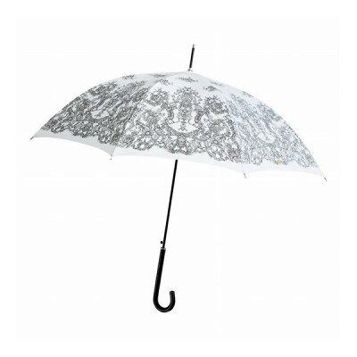 ケンショウ アベ レースプリントワンタッチ傘/ホワイト OABL-40JA