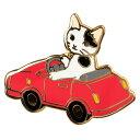 【ポタリングキャット】【ピンズコレクション ミニカー 猫】(PZ-4)ソフト七宝タイプの魅力のピンズ