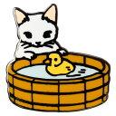 【ポタリングキャット】【ピンズコレクション アヒル猫】(PZ-5)ソフト七宝タイプの魅力のピンズ