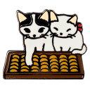 【ポタリングキャット】【ピンズコレクション そろばん 猫】(PZ-7)ソフト七宝タイプの魅力のピンズ