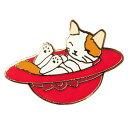 【ポタリングキャット】【ピンズコレクション 帽子 猫】(PZ-13)ソフト七宝タイプの魅力のピンズ
