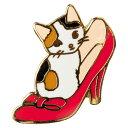 【ポタリングキャット】【ピンズコレクション 靴 猫】(PZ-18)ソフト七宝タイプの魅力のピンズ
