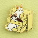 【ポタリングキャット】【ピンズコレクション ひきだし 猫】(PZ-21)ソフト七宝タイプの魅力のピンズ