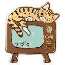 【ポタリングキャット】【ピンズコレクション  テレビ 猫】(PZ-32)ソフト七宝タイプの魅力のピンズ